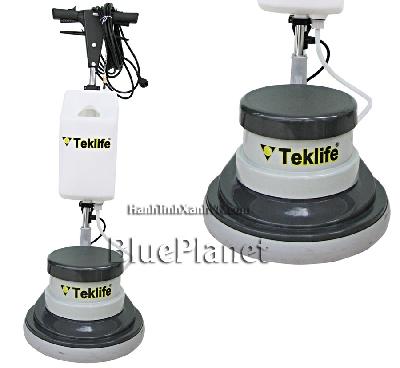 Máy chà sàn công nghiệp giá rẻ công suất 1100w của Teklife - �n để miếng pad đánh bóng sàn, thùng chứa hoá chất