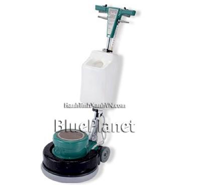 Máy chà sàn giặt thảm - kèm máy chà sàn: bàn chải cứng, bộ phận để miếng pad đánh bóng sàn, thùng chứa hoá chất, tạ sắt