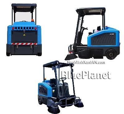 Xe quét rác sàn nhà xưởng GADLEE GTS 1900E - ng chứa rác: 160L - Cân nặng không gồm ắc quy:  - Kích thước (LxWxH): 1690 x 1010 x 2070 mm